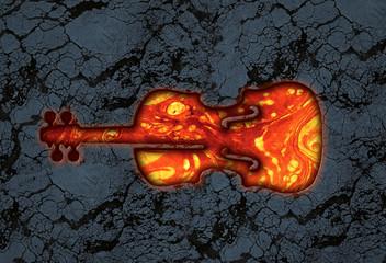 violin lava stone