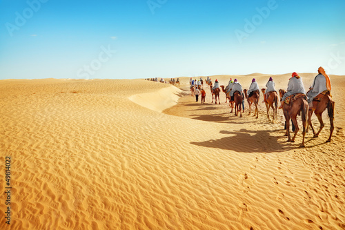 Fotobehang Tunesië Sahara desert