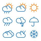 Fototapety Vector weather symbols