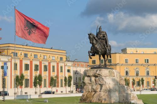 Leinwandbild Motiv Square Skanderbeg In Tirana