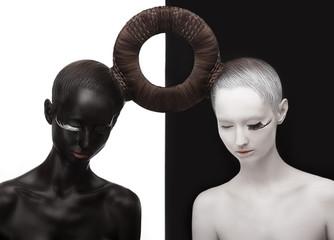 Zen. Yin and Yang. Black & White Symbol. Creative Orient Concept