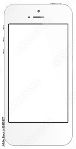 White Mobile Phone Isolated On White