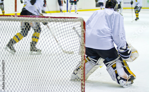 hockey player during a game