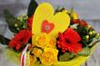 Blumenstrauß mit Herz