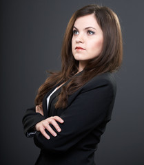 Young business woman attractive looks