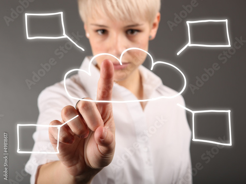 Cloud computing concept - world wide data sharing