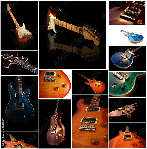 Set of Guitar Close Up photos