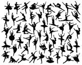 Fototapety Ballerina silhouette-vector