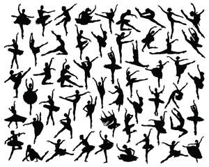 Ballerina silhouette-vector