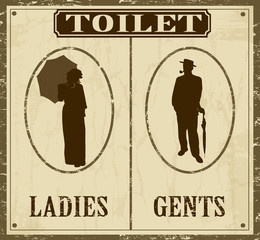 Toilet old style  poster