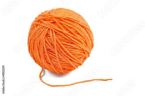 Orange yarn ball