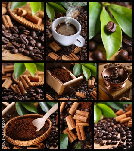 Obraz na płótnie composizione di nove foto w Caffè TEMA
