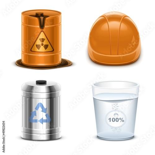ecology vector icon set