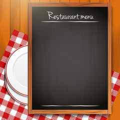 Empty blackboard - Restaurant menu background