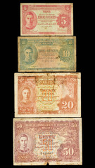 Old Banknote collection of Malaysia.