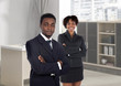 Couple of young executives