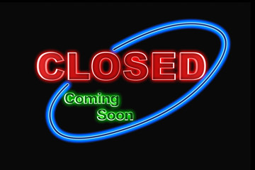 Neon Closed sign