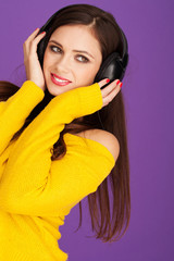 Woman in headphone