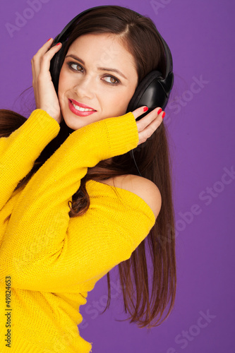 Woman in headphone