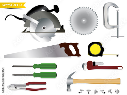 Carpentry tools Vector template design