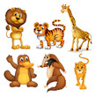 Different kinds of land animals