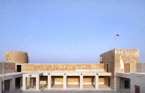 North Eastern galleries & towers of Zubarah fort, Qatar