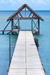 abri en bout de ponton, île Maurice
