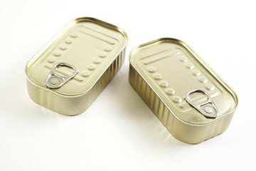 Two cans of sardines