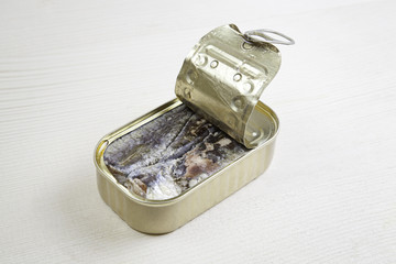 Can of sardines in oil