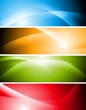 Bright abstract vector waves banners