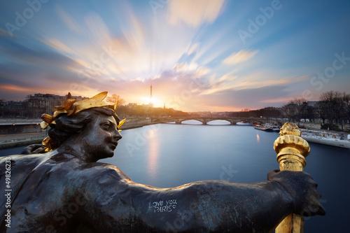 Fototapety, obrazy : Paris pont Alexandre III, Paris
