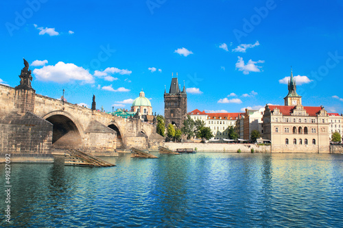 Foto op Canvas Praag Charles bridge in Prague