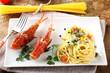 Spaghetti with fresh seafood broth