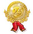 Medallie 25 Jahre Jubiläum