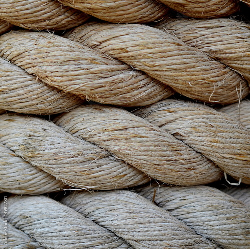 A Background Texture Of Grungy Old Rope