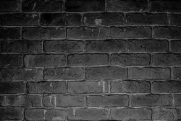 Black dark wall of brick