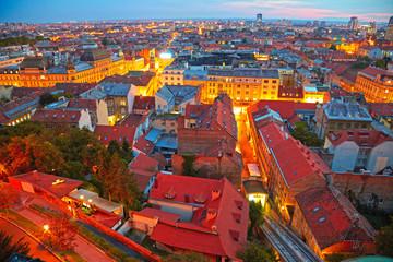 Zagreb cityscape, Croatia. HDR