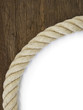 Starkes Tau auf Holz Hintergrund Konzept