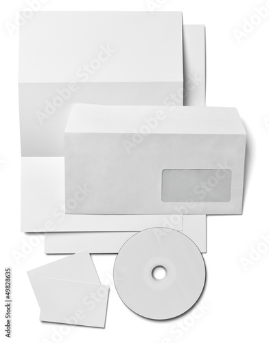 leaflet letter business card white blank paper template