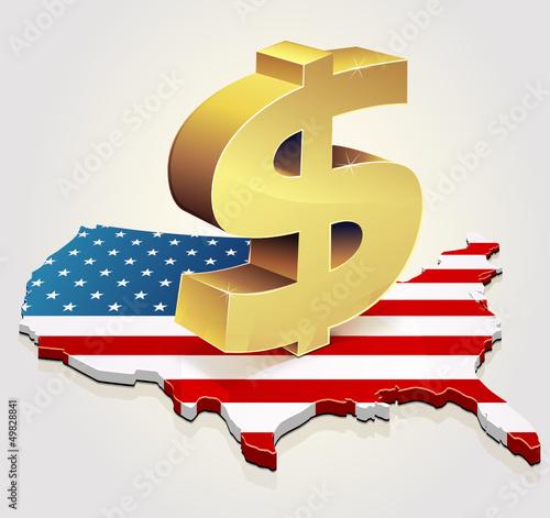 Dollar in usa (background)
