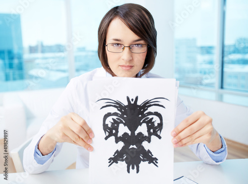 Doctor with inkblot