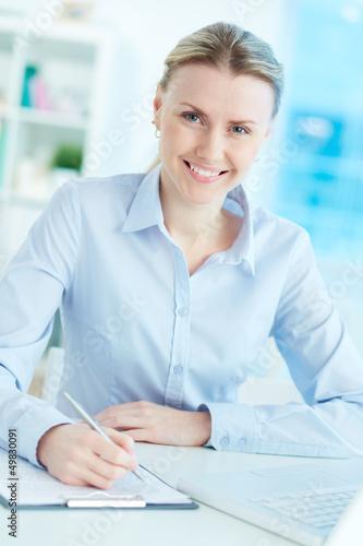 Businesswoman at work