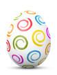 Osterei, Ostern, Ei, Zeichen, Symbol, Hühnerei, bemalt, Spirale