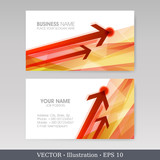 Business Card Set with arrows. Vector illustration. EPS10