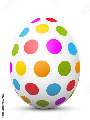 Osterei, Ostern, Ei, Zeichen, Symbol, Hühnerei, bemalt, Punkte