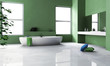 Green Bathroom Interior Design