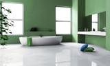 Green Bathroom Interior Design