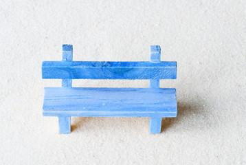 Ruhebank blau
