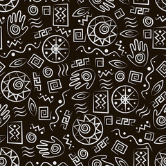Tribal art . African style seamless pattern.