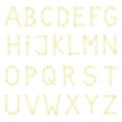 Klebestreifen Buchstaben gelb